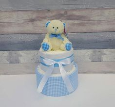 Boys Nappy Cake Gift for Baby ShowerNew Baby by SSNappyCakes