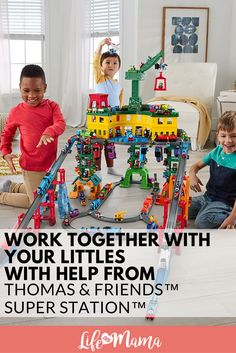 Sometimes it's hard to avoid the temptation of giving our kids electronic toys that don't rely on the use of imagination. But withThomas & Friends™️ Super Station™️, your kids will get their imagination going with the help of fun sights and sounds! #ad #sponsored