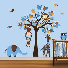 Vinyl Wall Decal Aufkleber Eule Baum Kinderzimmer von NurseryDecals