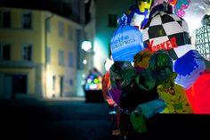 """Illuminated trash bag art installation designed to bring awareness to how nasty those plastic bags are for our environment"" - Caracas, Venezuela.    http://www.bitrebels.com/design/trash-bags-art-lights-up-the-city/"