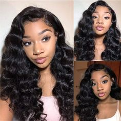 Loose Hairstyles, Straight Hairstyles, Curly Hair Styles, Natural Hair Styles, Best Virgin Hair, Straight Lace Front Wigs, Front Lace, Body Wave Wig, Lace Hair