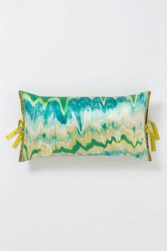 """Watercolor Ikat Rectangular Pillow - Anthropologie.com 12 x 22"""" just $328"""