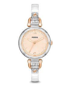 Loving this Two-Tone Georgia Bracelet Watch on #zulily! #zulilyfinds