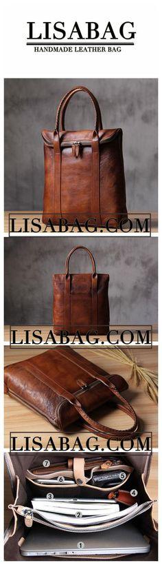 Leather Briefcase Men's Business Bag Handbag Men Fashion Laptop Bag 14500