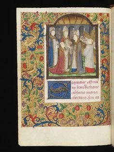 Porrentruy, Bibliothèque cantonale jurassienne, Ms. 10, p. 172v - Pontifical of Charles de Neufchâtel, Archbishop of Besançon