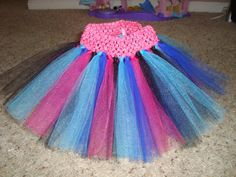 Anna Frozen inspired tutu skirt, you pick waistband color, cute tutu for birthdays or dress up! on Etsy, $10.00