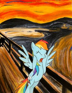 Scream Parody, Scream Art, Le Cri, Popular Paintings, Expressionist Artists, Famous Artwork, Edvard Munch, Arts Award, Mlp My Little Pony