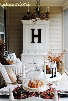 Dear Lillie: Color on the Porch Part II (The Blue Armoire) I want to repurpose our tv armoire on the porch