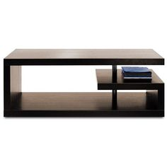 Brilliant coffee table, although I'd rather see wood where that chrome bar is, maybe.  Still, that little shelf would be a perfect spot for my stack of Apple products.  $799