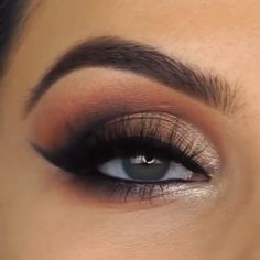(notitle) - Eye Make Up , (notitle) hair, makeup, nails. Eye Makeup Tips, Smokey Eye Makeup, Makeup Goals, Makeup Videos, Skin Makeup, Makeup Inspo, Eyeshadow Makeup, Makeup Inspiration, Beauty Makeup