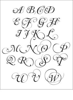 Calligraphy Alphabet Letters!!