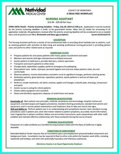 Nice Impress The Employer With Great Certified Nursing Assistant Resume,  Check More At Http: