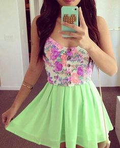✶❀❅✰❅❀✶ outfits Teen fashion Cute Dress! Clothes Casual Outift for • teenes • movies • girls • women •. summer • fall • spring • winter • outfit ideas • dates • school • parties mint cute sexy ethnic skirt