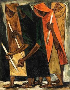 La Procesin de la F by Oswaldo Guayasamin (1919~1999; Quito, Ecuador)