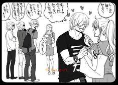 Nami One Piece, One Piece Ship, One Piece Comic, One Piece Fanart, Sanji Vinsmoke, One Peace, Manga, Anime Chibi, Persona