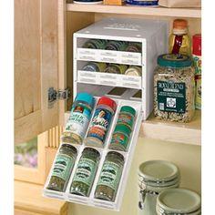Spice Stack- Spice rack organizer for cabinet Cabinet Spice Rack, Spice Rack Organiser, Spice Drawer, Spice Storage, Kitchen Hacks, Kitchen Gadgets, Kitchen Ideas, Pantry Ideas, Kitchen Stuff