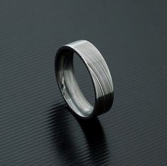 Genuine stainless Damascus Steel Mens Ring PD26 by polygallery, $199.00