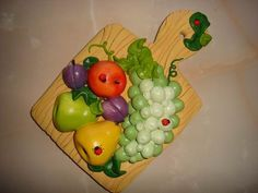 Gallery.ru / Декоративная досточка на кухню - Мои работы керамика, тестопластика - SvetlanaKholopova