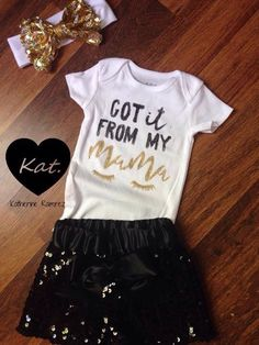 Got it from my momma outfit adorable one of a kind by Kattramirez