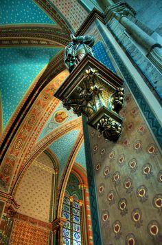 Inside Notre Dame, Paris, France ** Beautiful colours. Notre Dame is a very interesting buuilding.