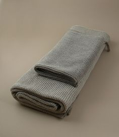 Knitted linen towels from Object of Use