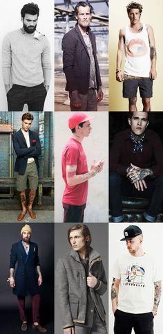 Men's Tattoos In Fashion Campaigns & Lookbooks