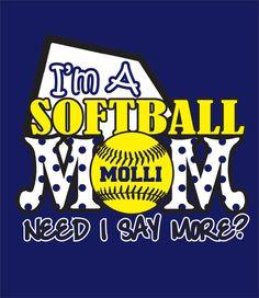 Softball Mom Shirt by WhitefishCreations on Etsy, $25.00