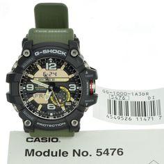 Casio G-Shock GG-1000-1A3 DR Mudmaster Twin Sensor Ana-Digital Men's Watch Green  | eBay