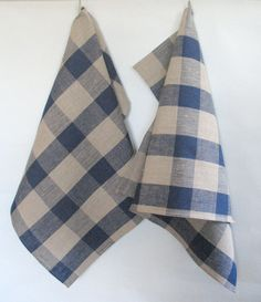 Linen Dish Towels Checked Checkered Natural Gray Blue Tea Towels set of 2  The best choice for your kitchen! Eco friendly and natural!  Set Of 2 Organic Dish Towels. The uses of these Eco-friendly Linen Tea Towels are endless!  ✿ Made of durable and absorbent higher quality organic 100% linen fabric, these Towels will last a lifetime! ✿ Dish towels can be perfect for your kitchen to dry dishes, handle hot pots or just decoration. ✿ Dimensions: approximately 18.5 x 29 ( 2 items )  ✿ The…