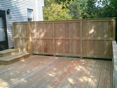 Privacy standing deck for home