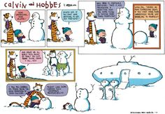 Another awesome Calvin and Hobbes snowman comic!