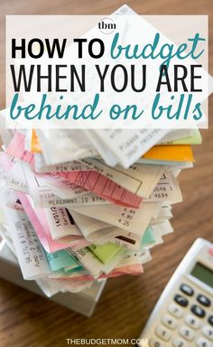 Budgeting when you are broke seems impossible. Here is how to set up a budget when you have fallen behind. Budget | How To | Bills | Personal Finance via The Budget Mom  | Budget Tips, Save Money, Get out of Debt and More!