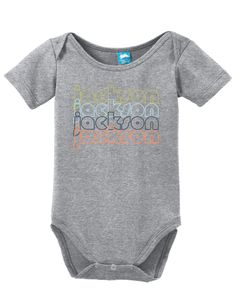 Jackson Mississippi Retro Onesie Funny Bodysuit Baby Romper Clothe your young ones while having fun! These adorable onesies that are sure to bring a :) to everyone. Super soft cotton body suits with s