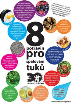 8 potravin pro spalování tuků - 30ti denní výzva Weight Loss Workout Plan, Weight Loss Meal Plan, Ale, Healthy Lifestyle Tips, Atkins Diet, Lose Weight, Health Fitness, Healthy Recipes, Friday
