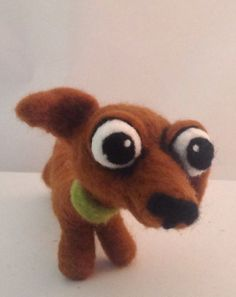 DASCHUND ooak needle felted art doll by papermoongallery on Etsy, $69.00