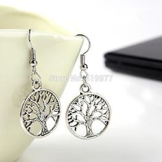 New Fashion Jewelry Vintage Tibetan Silver Life Tree Drop Earrings Best Friends…