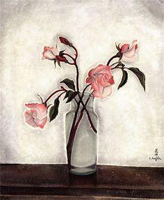 Tsuguharu Foujita藤田嗣治「Bouquet di rose」(1919)