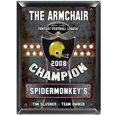 Personalized Fantasy Football Champion Plaque