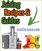 All the best Juicing Recipes with pictures, shopping lists, guides, Substitution Lists, review and much much more!  Only at http://www.justonjuice.com/juicing-recipes-guide/