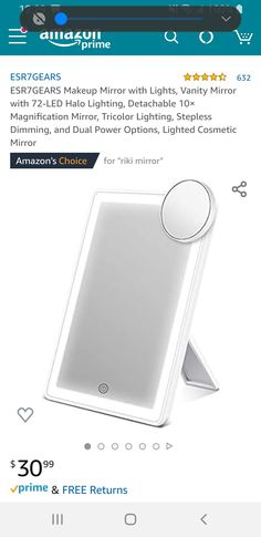 Riki Mirror, Makeup Mirror With Lights, Dorm Room, Room Inspiration, Led, Dormitory, Dorm Rooms, College Dorm Rooms, Bedrooms