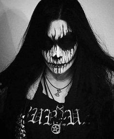 Metal Girl, Black Metal, Halloween Face Makeup, Mens Fashion, Painting, Style, Moda Masculina, Swag, Man Fashion