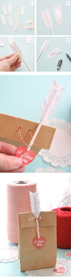 Valentines day DIY...template to make arrows...put on pencils instead of straws (KP?)
