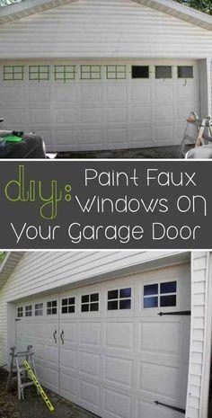 Quick easy diy garage door upgrade garage door update garage paint faux windows on your garage door solutioingenieria Gallery