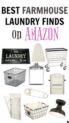 Farmhouse Laundry Room Ideas that are Functional & Fabulous! - Create Functional and Fabulous Farmhouse Laundry Rooms with these best farmhouse laundry finds on a - Laundry Shelves, Laundry Decor, Laundry Room Organization, Laundry Room Design, Laundry Storage, Paint Colors Laundry Room, Laundry Detergent Storage, Laundry Signs, Laundry Area