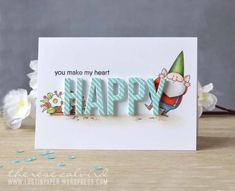 Because You and Birdie Brown You Gnome Me stamp sets and Pinstripe Background stamp - Therese Calvird #mftstamps