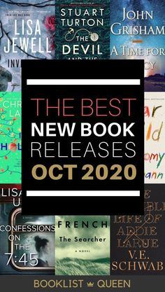 Check out the most-anticipated October new book releases. Wondering what to read now? Try one of the hot new October 2020 book releases for you. I'll let you know what to read, what to skip and what's getting all the attention this month. Books listed include: Invisible Girl, The Invisible Life of Addie LaRue, Confessions on the 7:45.