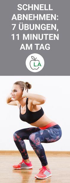 Schnell abnehmen mit 7 effektiven Übungen. In diesem Beitrag zeigen wir dir einen Trainingsplan mit 7 verschiedenen Übungen, die dir dabei helfen einen flachen Bauch und straffe Oberschenkel zu bekommen. #abnehmen #fitness #training Foto: Veles Studio/Shutterstock.com