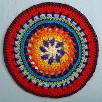 Crochet Mandala Wheel made by Jill, Devon, UK for yarndale.co.uk