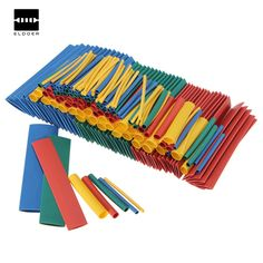 New Arrival 260 cái 12.4 m 2:1 Heat Shrink Dây Bọc Assortment Ống Kết Nối Điện Cable Sleeve 4 Colors Hot bán