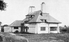 "Lowicks, by C. F. A. Voysey (1857-1941). The house as shown in ""The Revival of English Domestic Architecture,"" p. 16. Source: Victorianweb.org"